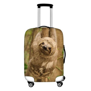 Brown Sloth Luggage and Suitcase Cover - Sloth Gift shop