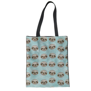 Sloth Head Tote Bag