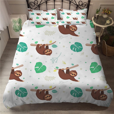 Leafy Sloth Bedding Set