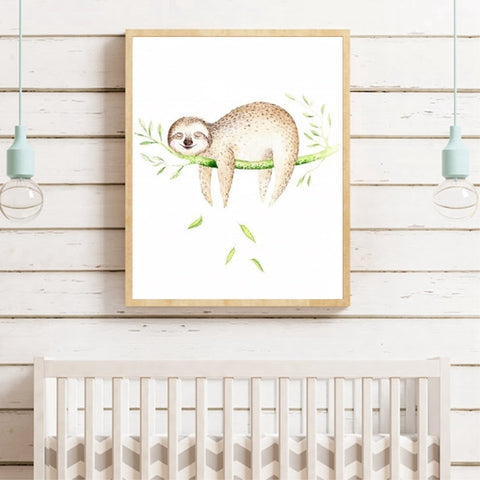 Sigh Face of Sloth Poster - Sloth Gift shop
