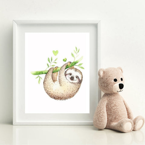 Happy Lucky Sloth Poster - Sloth Gift shop