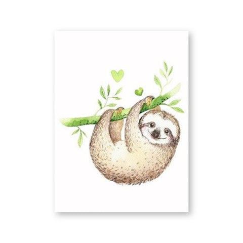 Happy Lucky Sloth Poster