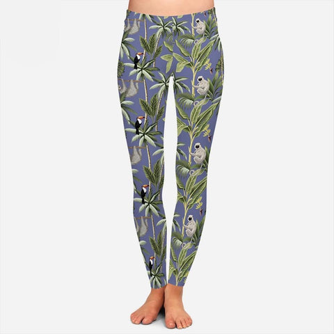 Sloth Leaf Leggings - Sloth Gift shop