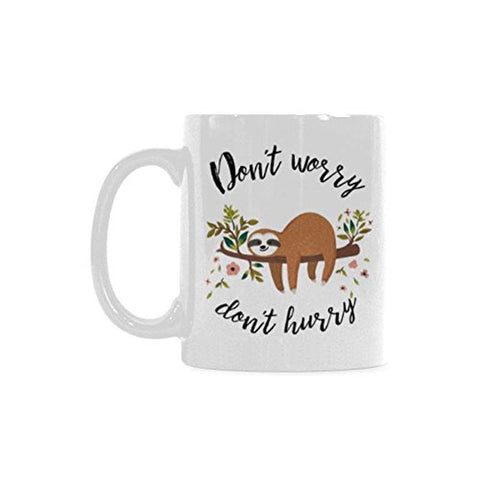Don't Hurry Sloth Mug - Sloth Gift shop