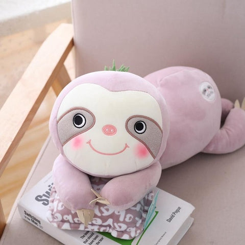 Angelic Sloth Face Plush Toy - Sloth Gift shop