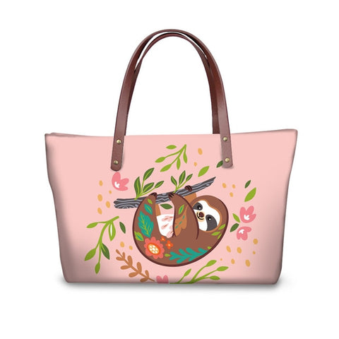 Pinky Sloth Handle Bag