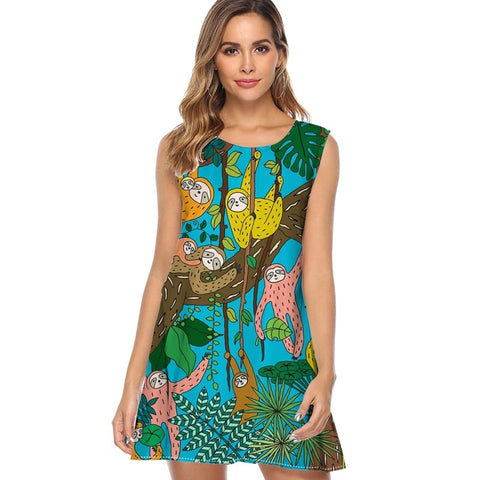 Jungle Sloth Dress - Sloth Gift shop