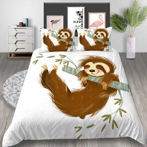 Cute Sloth Bedding Set