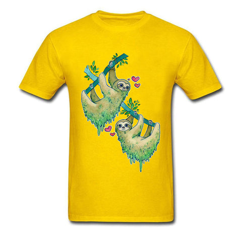Image of Couple Sloth Lovers T-shirt - Sloth Gift shop