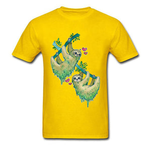 Couple Sloth Lovers T-shirt - Sloth Gift shop