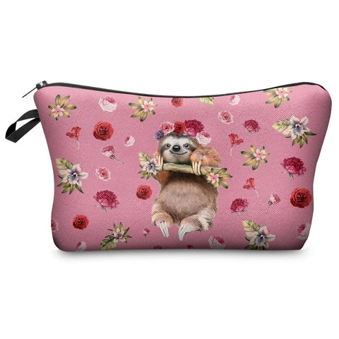 Image of Roses are Sloth Makeup Bag - Sloth Gift shop