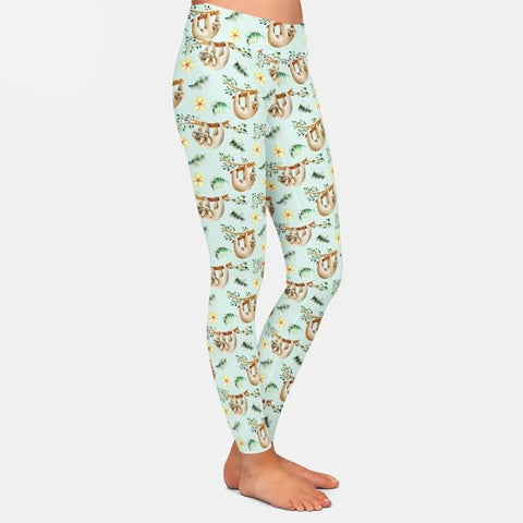 Silk Sloth Leggings - Sloth Gift shop