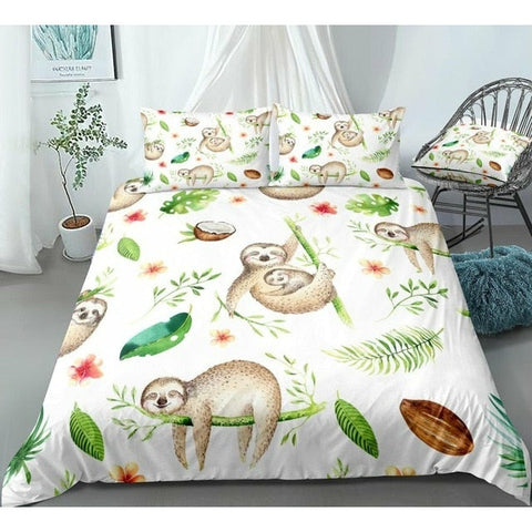 Coco Sloth Bedding Set - Sloth Gift shop