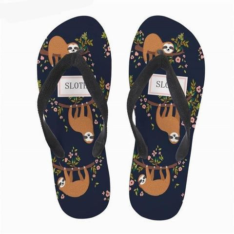 Image of Navy Hang Sloth Sandals