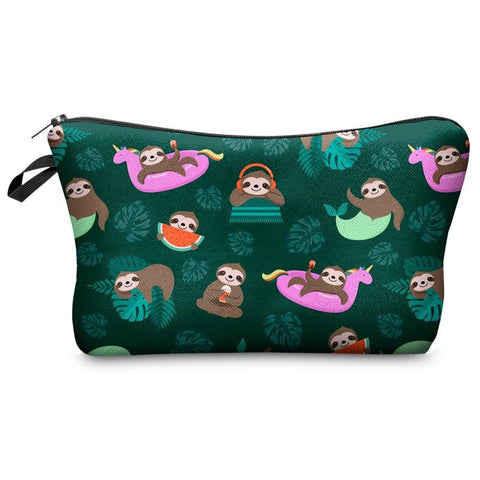 Image of Summer Time Sloth Makeup Bag - Sloth Gift shop
