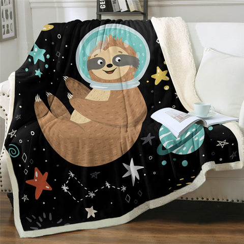 Floating Sloth Blanket - Sloth Gift shop