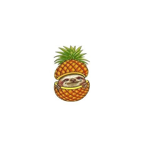 Pineapple Sloth Pin Badge