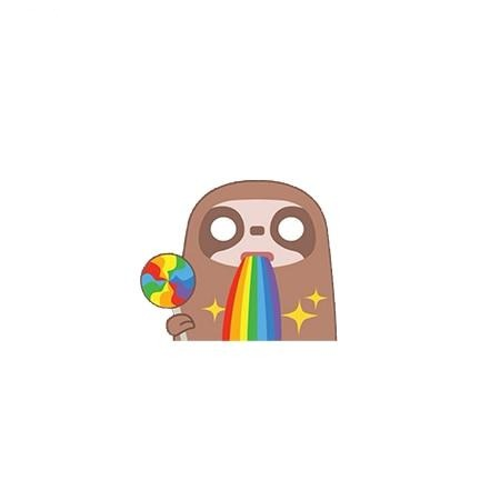 Rainbow Sloth Pin Badge