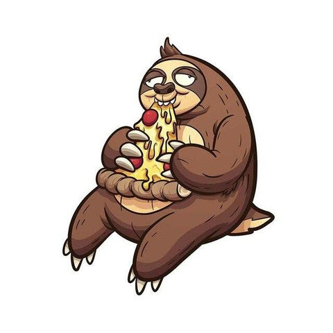 Pizza Sloth Sticker - Sloth Gift shop