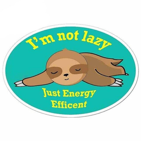 Energy Sloth Efficent Sticker - Sloth Gift shop