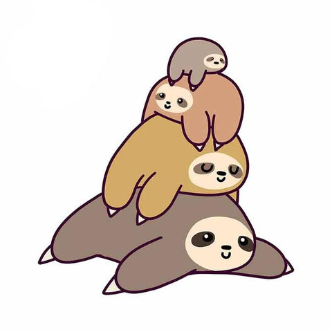 Pile Up Sloth Sticker