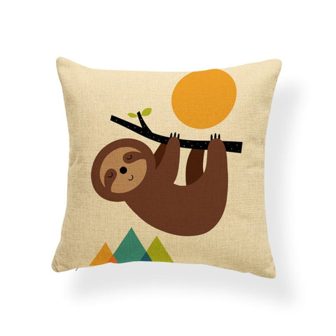 Moon and Sloth Cushion Cover - Sloth Gift shop