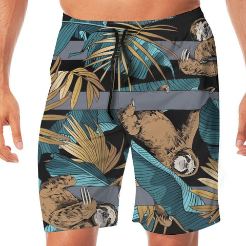 Banana Leaves Sloth Boardshort