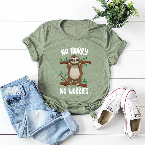 No Hurry No Worries Sloth T-shirt - Sloth Gift shop