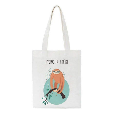Image of Hang Sloth Tote Bag - Sloth Gift shop
