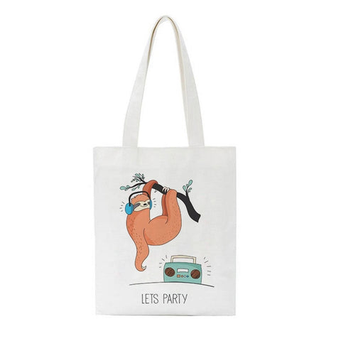 Image of Let's Sloth Party Tote Bag - Sloth Gift shop