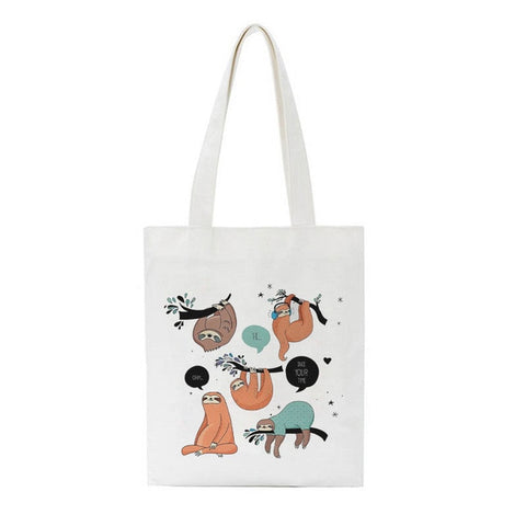 Image of Different Sloth Side Tote Bag - Sloth Gift shop