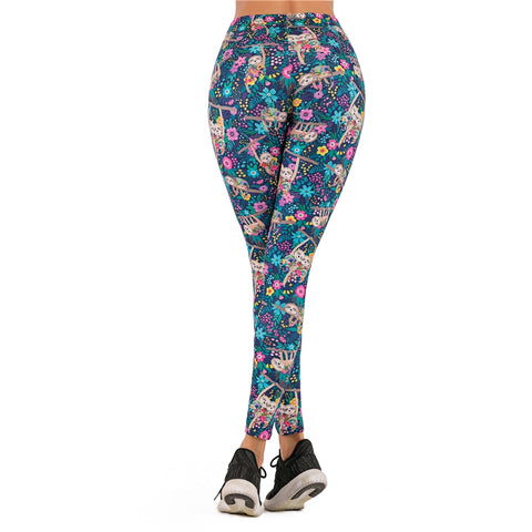 Image of Floral Sloth Leggings