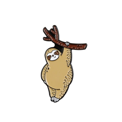 Relax and Hang Sloth Pin Badge - Sloth Gift shop