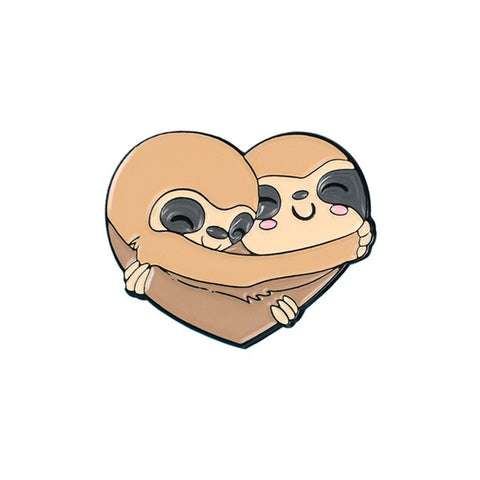 Sloth Love Pin Badge - Sloth Gift shop