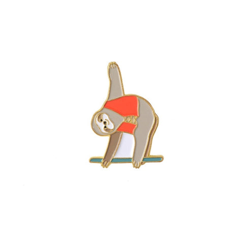 Gymnastic Sloth Pin Badge - Sloth Gift shop