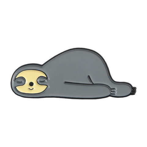 Lazy Sloth Pin Badge - Sloth Gift shop
