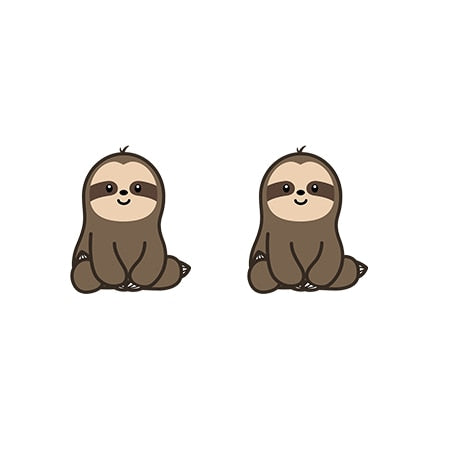 Well Behaved Sloth Earrings - Sloth Gift shop