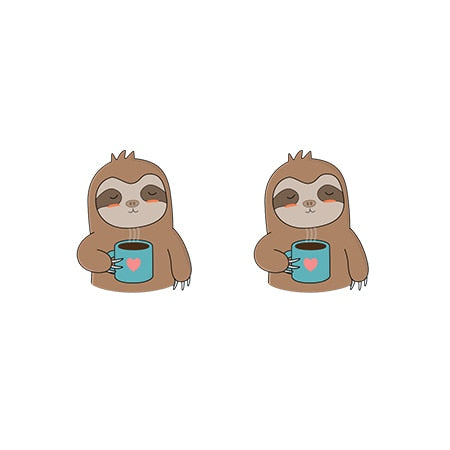 Coffee Anyone Earrings - Sloth Gift shop