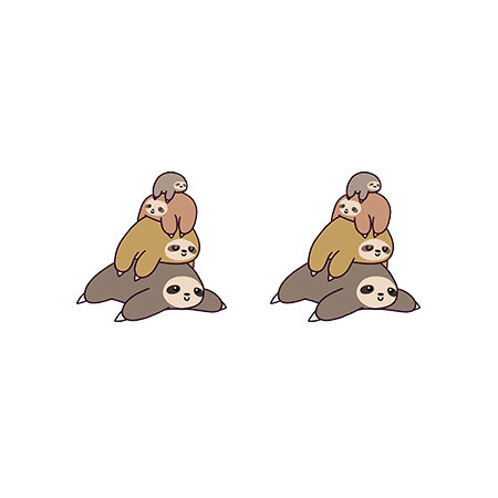 Pile Up Sloths Earrings - Sloth Gift shop