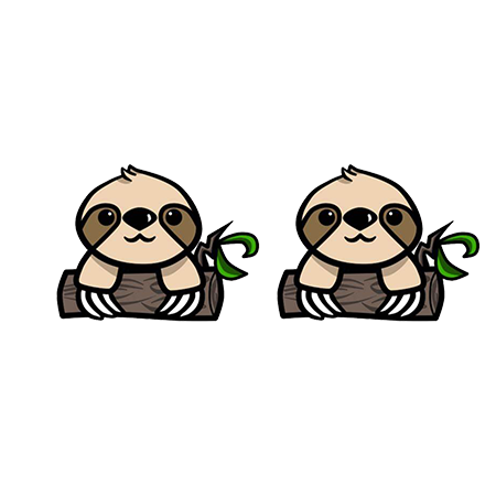 Baby Sloth Earrings - Sloth Gift shop