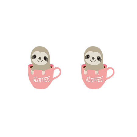SlothFee Earrings - Sloth Gift shop