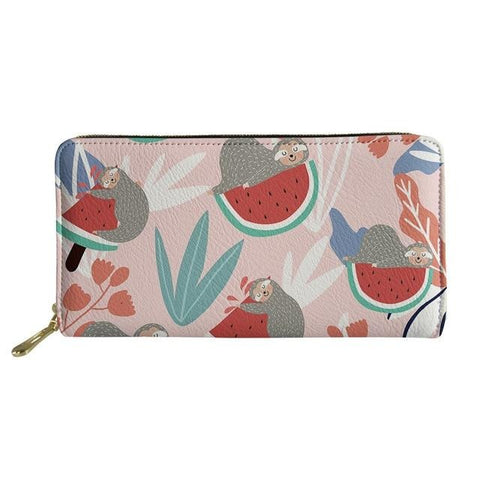 Image of Melon Sloth Purse / Wallet - Sloth Gift shop
