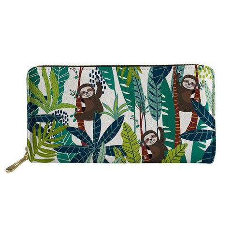 Image of Paradise SLoth Purse / Wallet - Sloth Gift shop