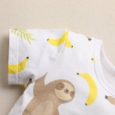 Image of Happy Sloth Banana Babygrow - Sloth Gift shop