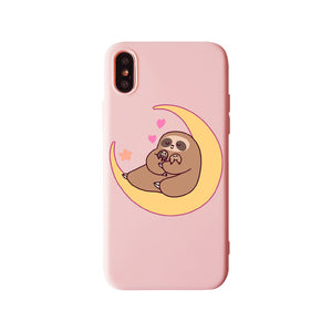Moon Lover Sloth iPhone Case - Sloth Gift shop