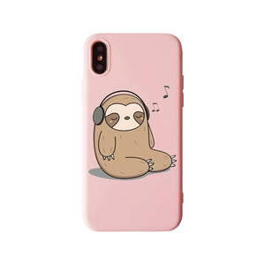 Music Sloth Lover iPhone Case - Sloth Gift shop