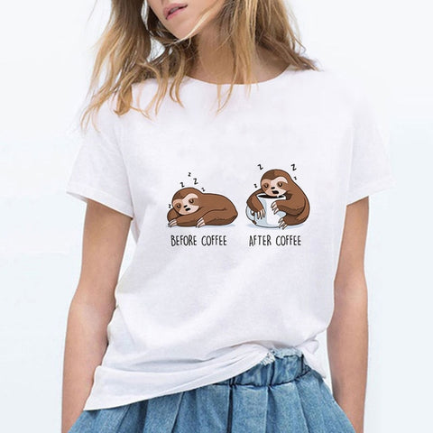 Sloth Before and After T-shirt - Sloth Gift shop