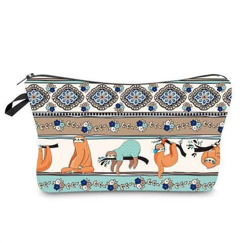 Image of Aztec Sloth Makeup Bag - Sloth Gift shop