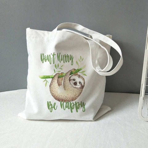 Be Happy Sloth Lunch Bag