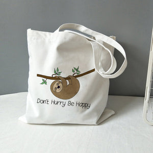 Closed Eyes Sloth Lunch Bag
